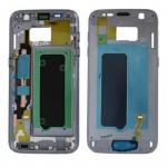 Samsung GH96-009788A Gehäuse Rahmen für Galaxy S7 G930 G930F Klebepad Schwarz