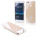 Alu Bumper 2 teilig mit Abdeckung Gold für Huawei P9 Lite Tasche Hülle Case Neu