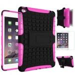 Hybrid Outdoor Schutzhülle Pink für iPad Pro 12.9 Tasche + 0.4 H9 Panzerglas Neu