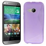 Silikonhülle Design S-Line Lila Hülle Case Cover für HTC One Mini 2 M5 2014 Neu