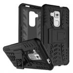 Hybrid Case 2teilig Outdoor Schwarz für Huawei Nova Plus Tasche Hülle Cover Neu