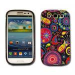 Schutz Silikon Gemustert 8 für Samsung Galaxy S3 i9300 Hülle Cover Case + Folie