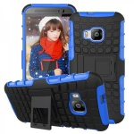 Hybrid Case 2teilig Robot Blau Cover Kappe Zubehör für HTC One 3 M9 2015 Hülle