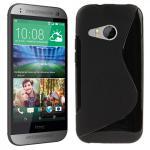 Silikonhülle Design S-Line Schwarz Hülle Case Cover für HTC One Mini 2 M5 2014