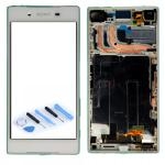 Sony Display LCD Komplett Einheit mit Rahmen für Xperia Z5 E6603 E6653 Weiß Neu