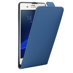 Fliptasche Deluxe Blau für Sony Xperia Z3 Plus + E6553 Dual Tasche Case Hülle