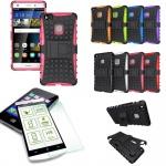 Hybrid Case Tasche Outdoor 2teilig Pink für Huawei P9 Lite + Panzerglas Cover