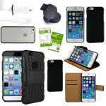 12 in 1 Mega Zubehör SET für Apple iPhone 6 4.7 Tasche Hülle KfZ Halterung Kabel