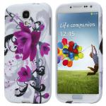 Silikoncase für Muster 3 Samsung Galaxy S4 i9500 i9505 LTE + Displayschutzfolie