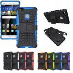 Hybrid Case 2teilig Outdoor Blau für Huawei P9 Lite Tasche Hülle Cover Schutz