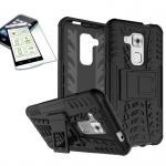 Hybrid Case Tasche Outdoor 2teilig Schwarz für Huawei Nova Plus + Panzerglas Neu