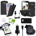 7 in 1 SET für Samsung Galaxy S6 Edge G925F Tasche KfZ Halterung Kabel Folie