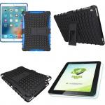 Hybrid Outdoor Schutzhülle Blau für iPad Pro 9.7 Tasche + 0.4 H9 Panzerglas Case