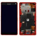 Original Sony Display LCD Komplett Einheit mit Rahmen für Xperia Z3 Compact Neu
