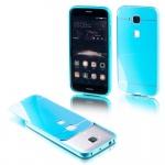Alu Bumper 2 teilig mit Abdeckung Blau für Huawei G8 5.5 Zoll Tasche Hülle Neu