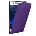 Fliptasche Deluxe Lila für Sony Xperia Z3 Plus + E6553 Dual Tasche Case Hülle