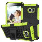 Hybrid Case 2 teilig Robot Grün für Samsung Galaxy S6 G920 G920F Hülle Case Neu