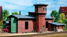 Auhagen H0 11400: Lokschuppen mit Wasserturm