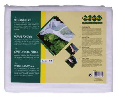 Frühbeetvlies 1, 5 x 10 m, Gartenvlies, Pflanzenschutz, Pflanzenvlies, Folie