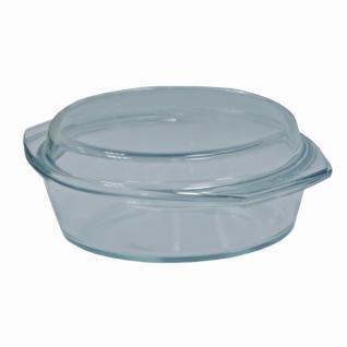 Mikrowellen-Kochschüssel, Bratschüssel, Glasbräter, Glasschüssel, rund, 1, 5 l