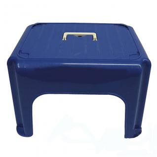 Tritthocker, Hocker, Trittstufe, Haushaltstritt, Farbe blau mit Fallgriff