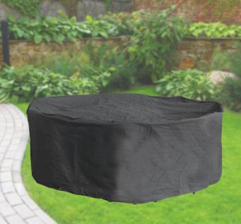 Komfort Schutzabdeckung für Sitzgruppe bis 200cm, Schutzhülle rund, anthrazit