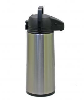 Isolierkanne, Pumpkanne, Airpot, Thermoskanne, Kaffekanne, Edelstahl 1, 9 l