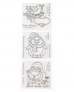 Niedliche Weihnachtsstempel, Weihnachtspost, Dekorieren, Basteln, Gestalten