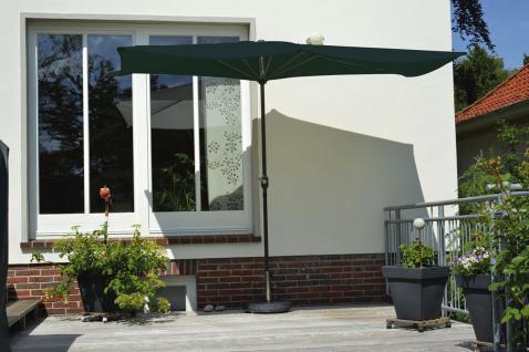 Balkonschirm 1, 5 x 3, 0 m, mit Kurbel, anthrazit, Sonnenschirm, Sonnenschutz