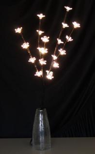 LED- Blütenzweig, Lichterzweig, Blumenzweig, Blütenzweig mit 20 warmweißen LEDs