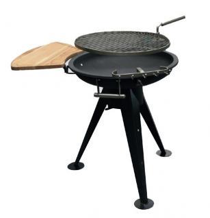 RUNDGRILL Dreibeingestell Feuerschale Holzkohlegrill BBQ Grill
