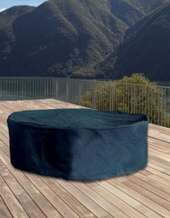 Schutzhülle für Sitzgruppe Schutzhaube Abdeckung anthrazit oval 230x135x70 cm
