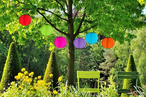 Solar Lampions, Gartenlampion, Partylaterne, Ø 20 cm, versch. Farben wählbar