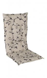 Sesselauflage natur 105x50x6cm, Sitzauflage, Gartenstuhlauflage Porto, Hochlehner