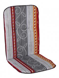 Sitzauflage Lanzarote, Gartenstuhlauflage, Sitzkissen Sesselauflage 100x50 cm