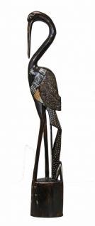 Schöne Dekofigur Flamingo, 75 cm, Albesia-Holz, Statue, Vogel, Skulptur, Stern