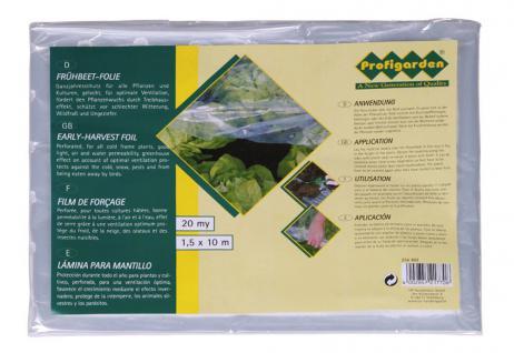 Frühbeetfolie, PE, gel., 20µ, 1, 5x10 m, Pflanzenschutz, Gartenfolie