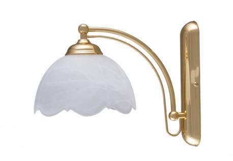 Wandleuchte klassisch, Wandlampe, Wand Lampe, Leuchte, 1-flammig, Messing