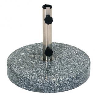 Schirmständer 20 kg Granit rund Sonnenschirm-Ständer Schirmhalter Gartenschirm