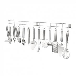 Küchenhelfer Set 13tlg. mit Hängeleiste Küchenutensilien Küchenzubehör Edelstahl