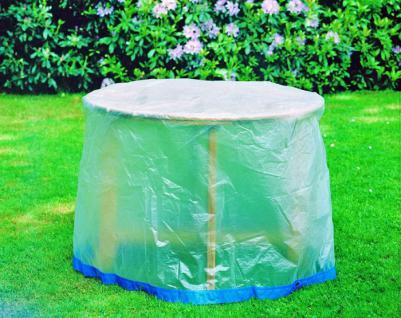 Schutzhülle Möbelschutzhülle Gartenmöbel Abdeckung Gartentisch rund mit Ösen