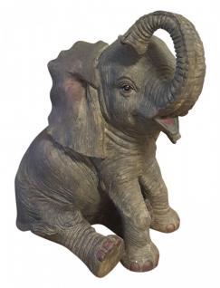 Tolle Dekofigur Elefant Glückselefant Afrika Deko afrikanische Skulptur 25cm NEU