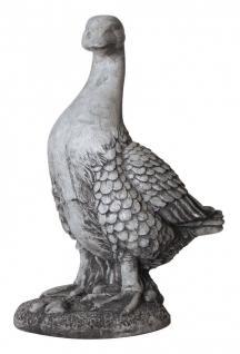 Dekofigur Ente grau/weiß Gartendeko Tierfigur Skulptur Statue 45x29x19, 5 cm