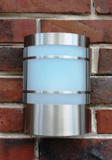 Edelstahl Wand-Außenleuchte Eingangsbeleuchtung mit Echtglas und 7 Watt LED