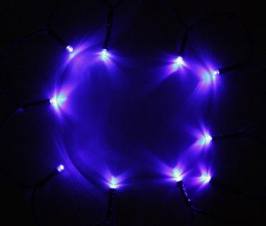 3er Set LED-Lichterkette mit je 10 blauen Leuchten, Batteriebetrieb, Dekoration