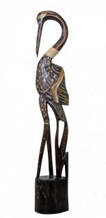 Schöne Dekofigur Flamingo, 75 cm, Albesia-Holz, Statue, Vogel, Skulptur, Ring