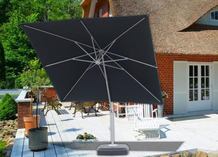 Ampelschirm 300x300 Poly graphit/schwarz Kurbel Sonnenschirm Terrassenschirm