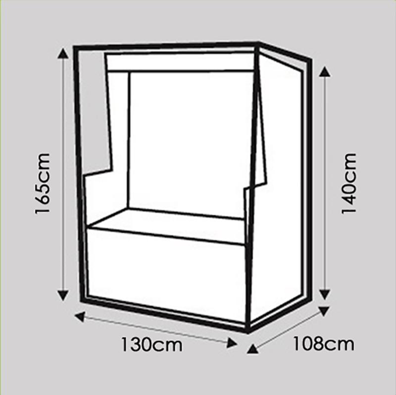 komfort schutzh lle xxl abdeckung f r strandkorb b130xt108xh165 cm transparent kaufen bei. Black Bedroom Furniture Sets. Home Design Ideas
