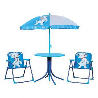 Kinder-Gartenset, 2 Stühle, 1 Tisch, 1 Sonnenschirm, Gartenmöbel, Spieltisch