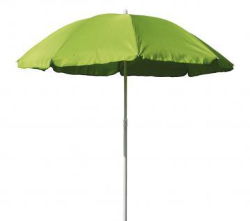 Sonnenschirm 180/8 Polyester hellgrün Gartenschirm Terrassenschirm Knickgelenk